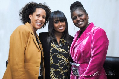 Cherie Boyd, Keisha Knight Pulliam and Cynthia Harper at Oasis Church